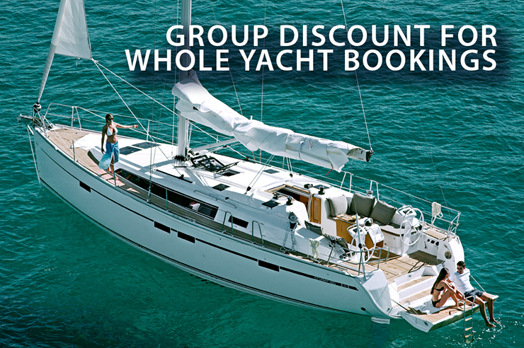 GROUP DISCOUNT FOR WHOLE YACHT BOOKINGS